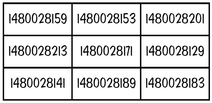 Magic square primes