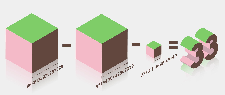 Sum of 3 cubes