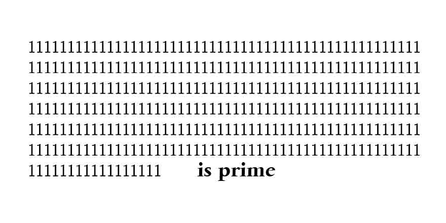 Primes with 1s
