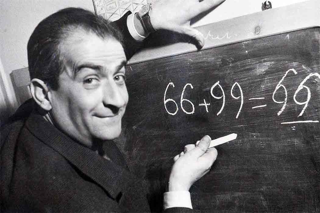 Louis De Funès, maths